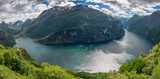 Fototapety Whole Geirangerfjord in panorama