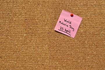 Memo: World Malaria Day