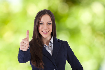 woman smiling greeting approval