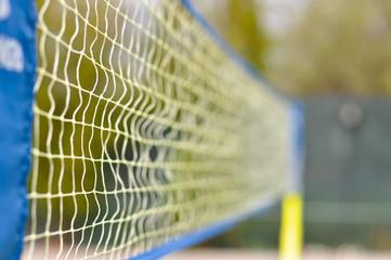 Volley ball net on a beach