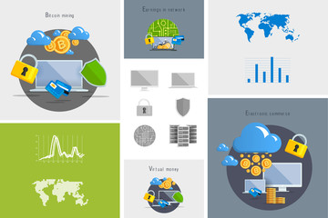Flat modern design vector illustration and icon. Concept electro