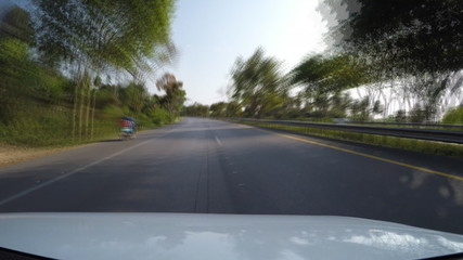 driving speed on the road country (fast speed)