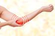 Leinwanddruck Bild - Ellbogenschmerz - Zielscheibe Markierung