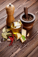 Various spices and condiments