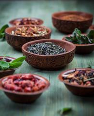 Assortment of dry tea