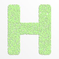 Vector multi color alphabet with grain texture, letter H