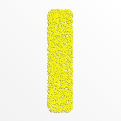 Vector multi color alphabet with grain texture, letter I