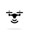 Wireless quadcopter simple icon on white background. - 81889543