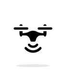 Wireless quadcopter simple icon on white background. poster