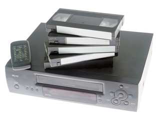 videocassette recorder and videotapes
