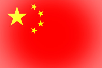 Flag of China vignetted