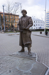 The monument to the mayor of Minsk