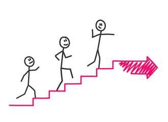 treppe hochlaufen pfeil IV