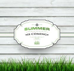 Summer Wooden Background