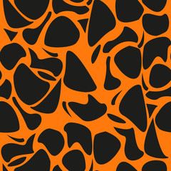 Leopard pattern, repeating vector background