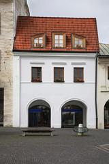 Marianske square in Zilina. Rakoczi house Slovakia