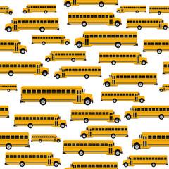 school bus seamless pattern