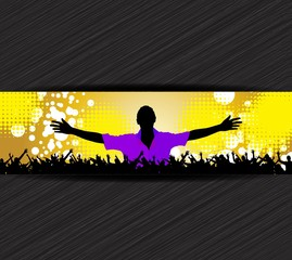 Music event background poster