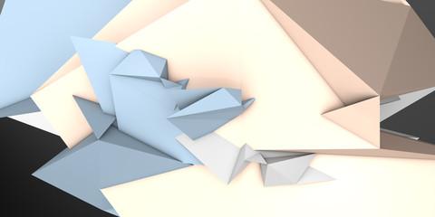 low poly origami