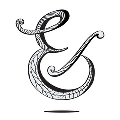 Ampersand in hand drawn style