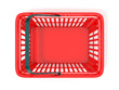 Red shopping basket, top view. 3D rendered illustration - 81892192