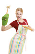 housewife or baker chef holds kitchen utensil