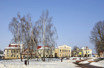 Lenin square in Slonim. Belarus