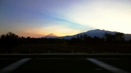 Sunset volcanoes