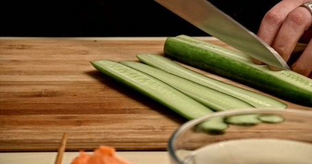 Cooking Rolls - cuting cucumber 2