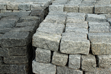 Stacks Of Granite Stones