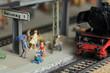 Modelleisenbahn Dampflokomotive Bahnhof - 81894529