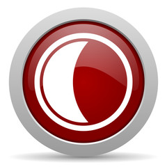 moon red glossy web icon