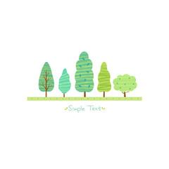 초록 나무숲