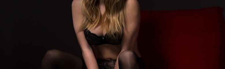 Provocative seductive woman