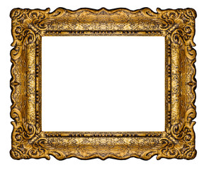High resolution baroque style frame cutout on white isolated wit