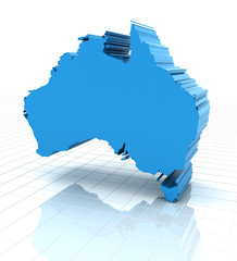 Extruded Australia map