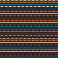 Striped Knitting Pattern. Seamless Vector Background
