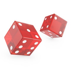 red glass dice
