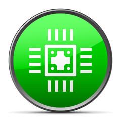 White Computer Chip icon