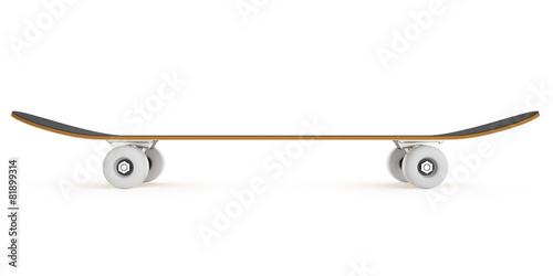 Leinwandbild Motiv skateboard isolated on a white background.