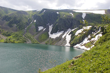 Горное озеро в Хакасии