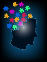 Concept of puzzle brain