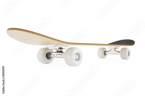 skateboard isolated on a white background. - 81901199