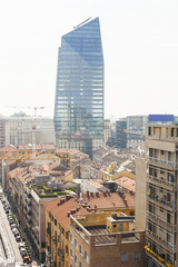 Milan cityscape and Diamond Tower