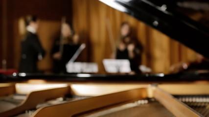 Classical music concert rehearsal defocus