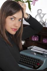 Mujer profesional en los treita años