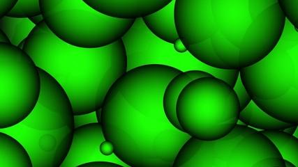 3D Green Bubbles