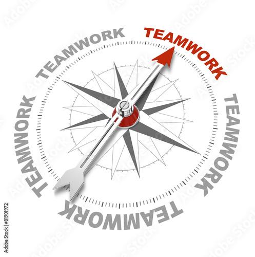 Leinwanddruck Bild Teamwork