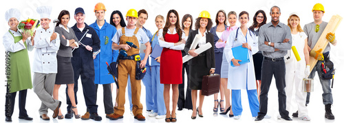 Group of workers people. - 81901995