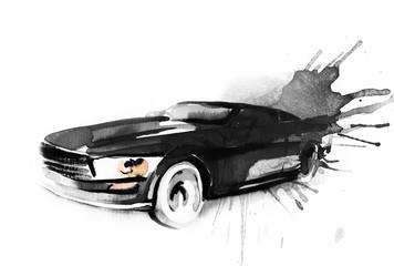 Car. Art sketch . Sport Car